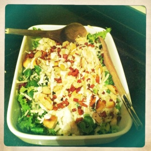 O doesn't cook much, but he nails the caesar salad