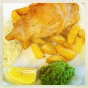 Perfect fish and chips from the East Hill in Wandsworth