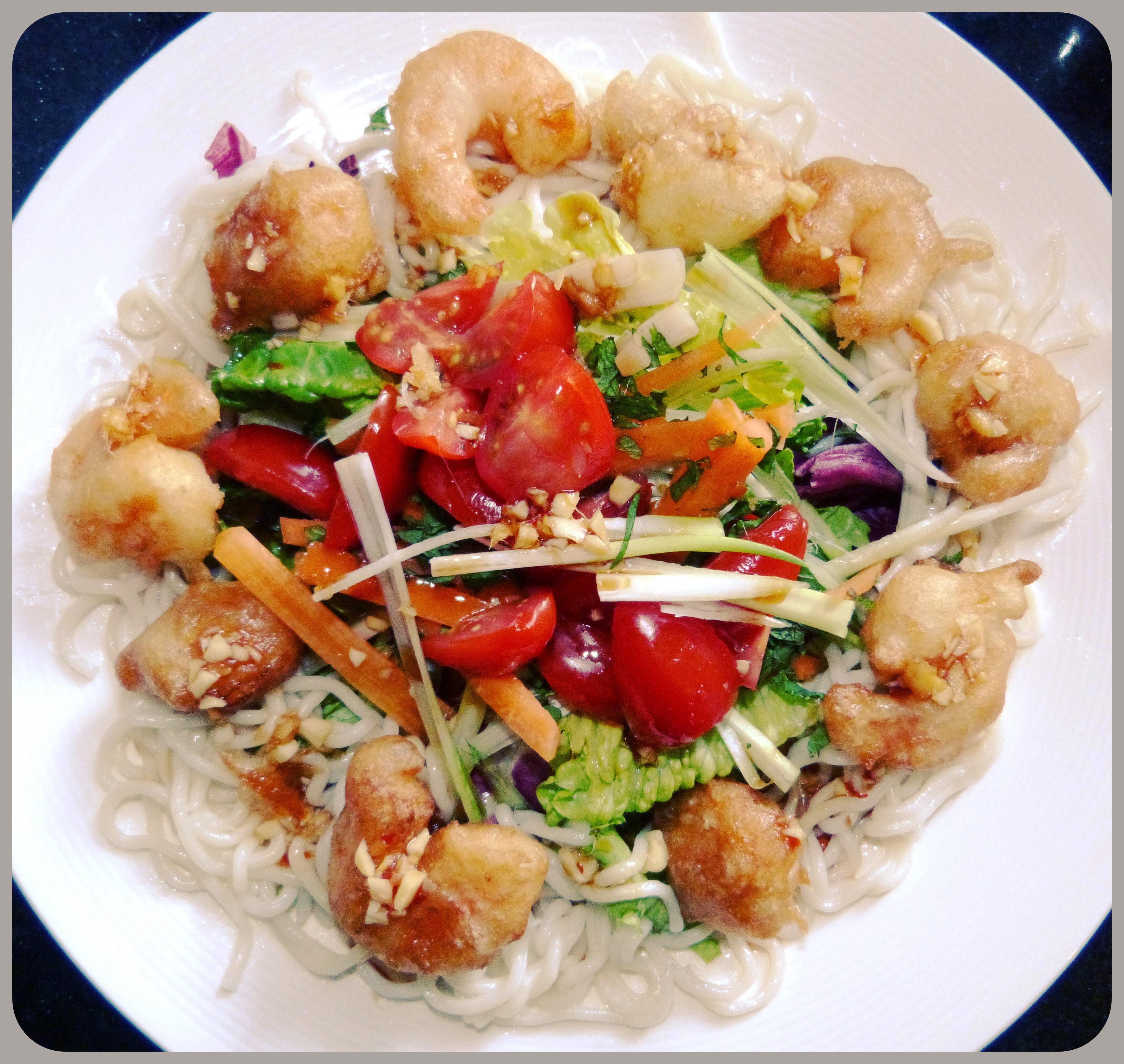 Asian Salad & Tempura