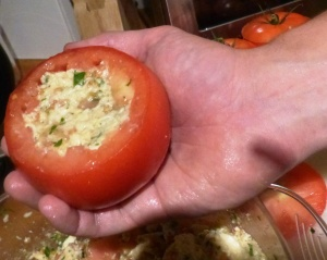 Tomato with filling
